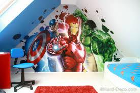 chambre marvel décor de héros marvel dans une chambre de garçon