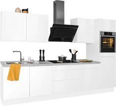 optifit küchenzeile avio premium küche ohne e geräte mit soft funktion vollauszü 38 mm starker arbeitsplatte und hochwertigen
