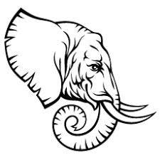 Elephant Head Hand Drawn Lion Coloring Pages