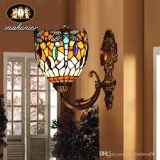 Tiffany Style Lamps Vintage by Stained Glass Wall Lights With Discount Makenier Vintage Tiffany