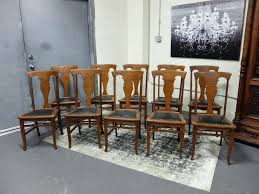 set of 8 oak dining chairs 12 antique 6 chair cushions 1x412 table