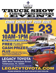 Truck Show & First Responders Event | Legacy Toyota Vacuum Truck Accsories Store Vac Used 2003 Dark Teador Red Metallic Gmc Sierra 1500 Sle For Off Road Innovations Tallahassee Competitors Revenue And Ranger Outfitters Tops Of Home Facebook American Bedliners New 2017 Toyota Tundra Limited Crewmax 55 Bed 57l Ffv At Legacy Truxedo City Elgin Vactor Envirosight Pb Loader New 2018 Toyota Highlander Se Sport Utility In S544329 N Car Concepts Thank You Youtube