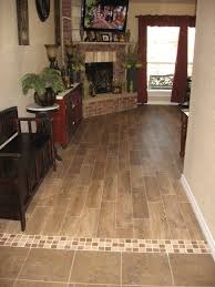 transition with wood plank tile pinteres