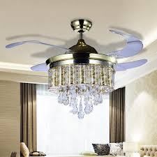 2018 Led Fans Light Ac 110v 220v Invisible Blades Ceiling Modern Fan Lamp Living Room 42 Inch Chandeliers Pendant Star Chandelier