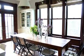 chicago farmhouse table and kitchen shabby chic style with pendant