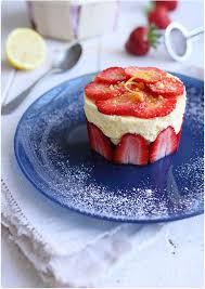 dessert pour 6 personnes entremet mousseux au citron et aux fraises recette mousse