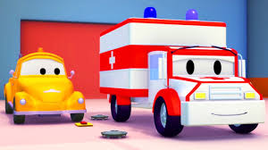 100 Trucks Cartoon Tom The Tow Truck And The Ambulance In Car City Cartoon For