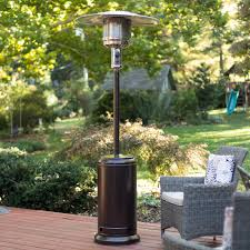 Propane Patio Heat Lamps by Fire Sense Hammered Bronze Patio Heater Hayneedle