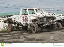 Wrecked Pickup Truck After Demolition Derby Editorial Image - Image ...