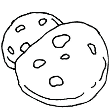 cookie coloring pages the big chocolate chip cookie coloring page cookie monster face coloring pages
