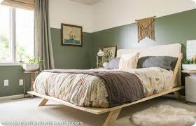 modern platform bed for an eclectic guest bedroom