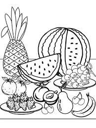 Fresh Fruit Printable Coloring Page