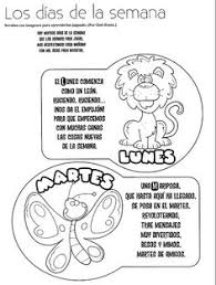 Coloring Pages Days Of The Week In Spanish