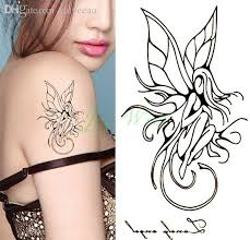 Wholesale Waterproof Temporary Tattoo Sticker On Body Hand Sexy Girl Angel Water Transfer Fake Flash For Women Chinese