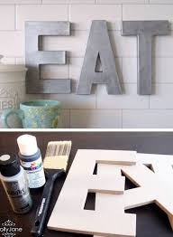 Anthro Inspired Faux Zinc Letters