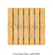 Wooden Pallet Isolated On White Background Stock Illustration