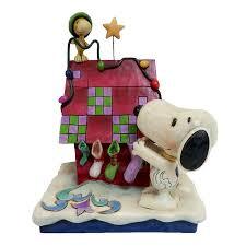 Jim Shore Halloween Disney by Jim Shore Heartwood Creek 4042372 Prepping For Santa Snoopy And