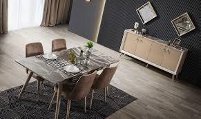 riva cappuccino esszimmer tisch 6 stühle sideboard 2
