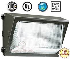 120 watt led wall pack light 13 400 lumens high efficiency 120