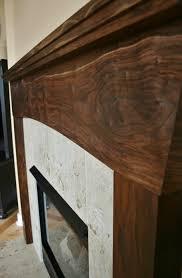 Batchelder Tile Fireplace Surround by Black Walnut Stained Pine Fireplace Mantel Google Search