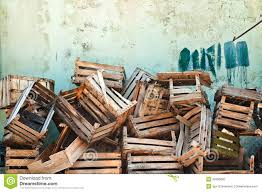 Wooden Crates Stock Image Of Rustic Plank Pile