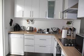 cuisine design blanche meilleur de cuisine blanche et bois design