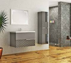 casa padrino luxus badezimmer set grau schwarz 1 waschtisch und 1 waschbecken und 1 led wandspiegel und 1 hängeschrank luxus kollektion