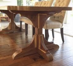 Angelas Stunning Walnut Wood Trestle Table
