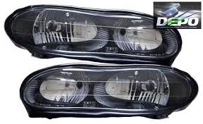 98 99 00 01 02 chevrolet camaro oe style black head lights ss z28