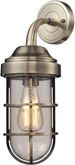 elk 66375 1 seaport nautical antique brass wall light fixture