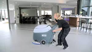Clarke Floor Scrubber Batteries by Nilfisk Sc450 U2013 24v Battery Powered Floor Scrubber Drier Youtube