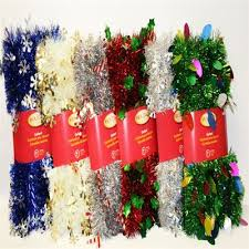 12 Ft Christmas Tree Canada by Holiday Living Assorted 12 Ft Tinsel With Die Cuts Christmas