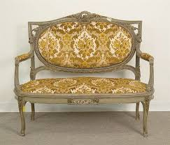 canapé style vintage wonderful vintage furniture cleveland louis xvi style carved and