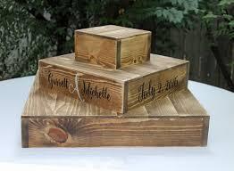 Wood Cake Stand Cupcake Rustic Wooden Wedding