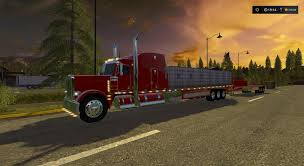 100 Custom Flatbed Trucks FS17 PETERBILT 388 CUSTOM FLATBED AUTO LOAD V1 Farming