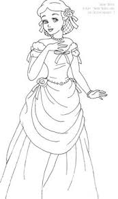 Snow White Deluxe Gown Lineart By LadyAmber On DeviantArt Adult ColoringColoring BookColouringDisney PrincessesPrincess