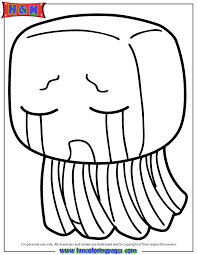 Minecraft Creature Ghast Coloring Page