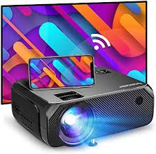 wifi beamer 6000 lumen bomaker 720p wireless mini beamer für draußen unterstützt 1080p hd heimkino projektor kompatibe
