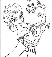 Disney Frozen Coloring Pages Free