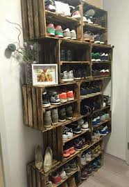 Love The Idea For Shoe Storage Rack Using Rustic Crates Istandarddesign