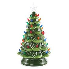 15 Tabletop Prelit Ceramic Christmas Tree With Multicolor Bulbs Decorations By Joiedomi