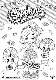 Shopkins Doll Chef Club Colouring Page Donatina