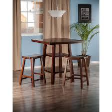 Orlando 3 Pc Set High Table 2 Shelves W Saddle Seat Stools