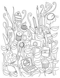 Free Coloring Book Pages For Grown Ups Fanciful Florals