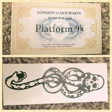 Hogwarts Express Ticket Und Tattoo Dark Mark Adventskalender Harry