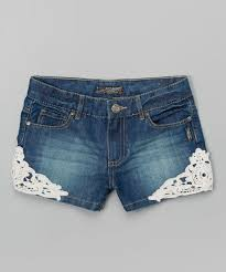 silver jeans co medium wash lace detail denim shorts toddler