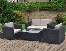 tables de jardin en resine salon de jardin en résine tressée subuk