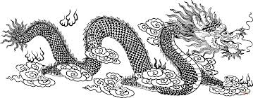 Click The Chinese Dragon In Clouds Coloring Pages