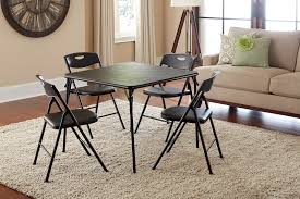 cosco home and office products 5 piece black folding table and