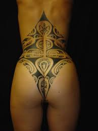 Curvy Tribal Tattoo Design